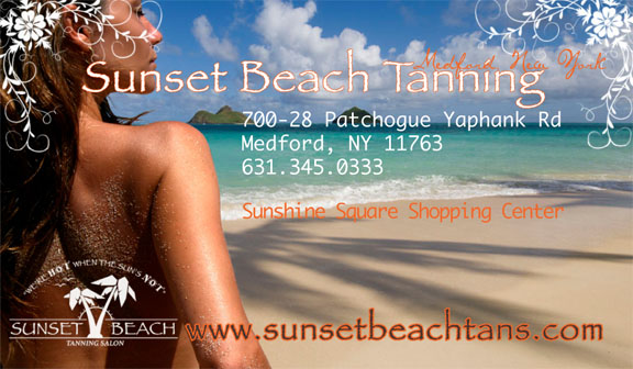 Sunset Beach Tanning Business Card